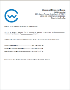 Discount request form