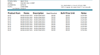 Product Price List Template