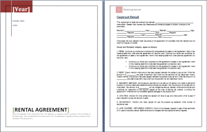 Rental property contract