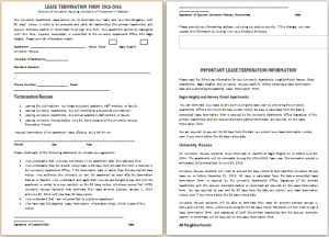 lease termination form template
