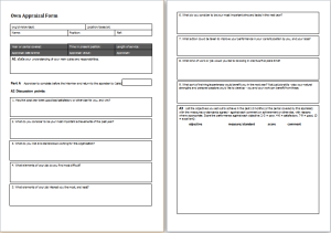 own appraisal form template