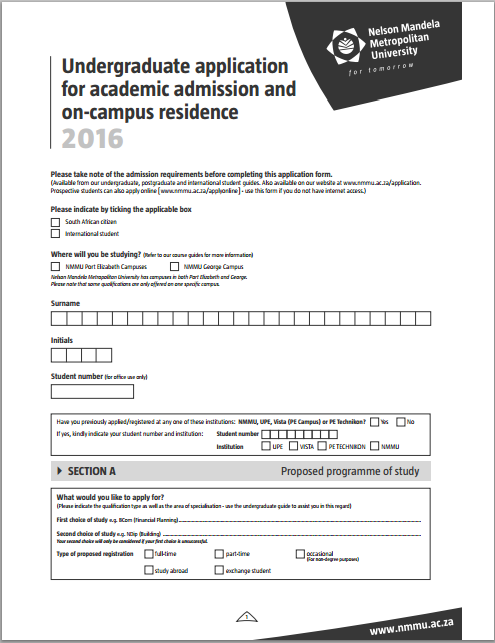 Study Admission Application Form Template – Student Application Form Template