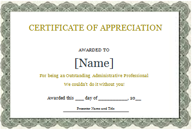 Certificate Of Appreciation Template Word Doc from worddox.org