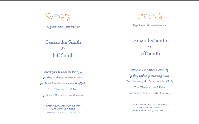 MS Word Wedding Invitation Card Templates