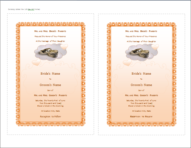 Wedding Invitation Card  Invitation Card Formats