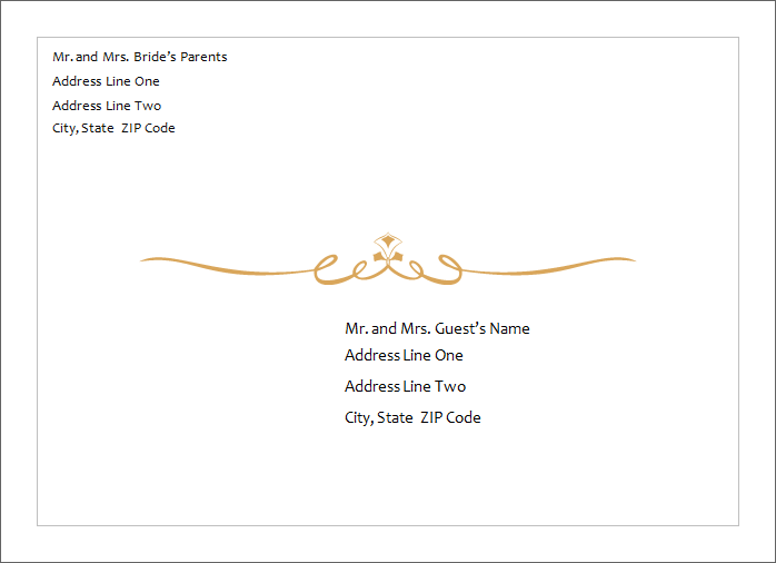 Ms word wedding invitation card templates word document for Examples of wedding invitation envelopes