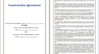 Construction Agreement template
