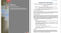 Employer agreement template