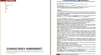 consultancy agreement template