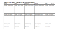 kids activity schedule template