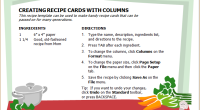 Recipe Book Sample Template