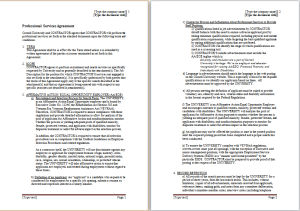 company services agreement template