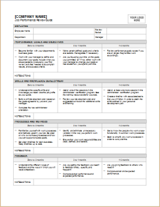 Employee performance assessment form