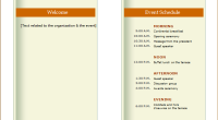 business event planner template