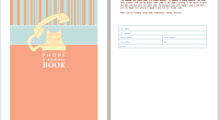 phone and address book template