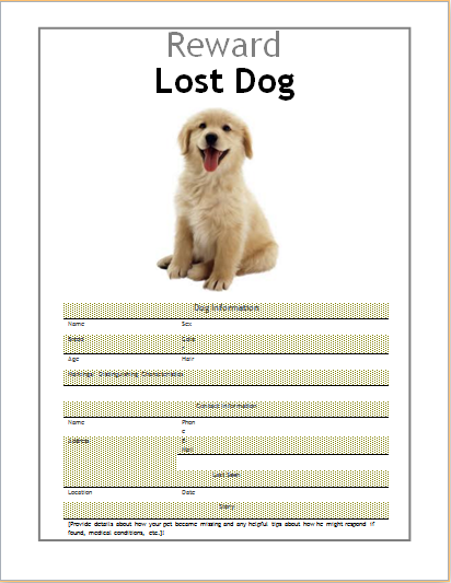 10 MS Word Editable Printable Flyer Templates – Lost Dog Flyer Template Word