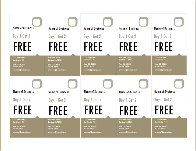 How to make coupons with sample coupon templates word for Create a coupon template free