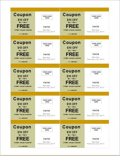 Coupon Templates