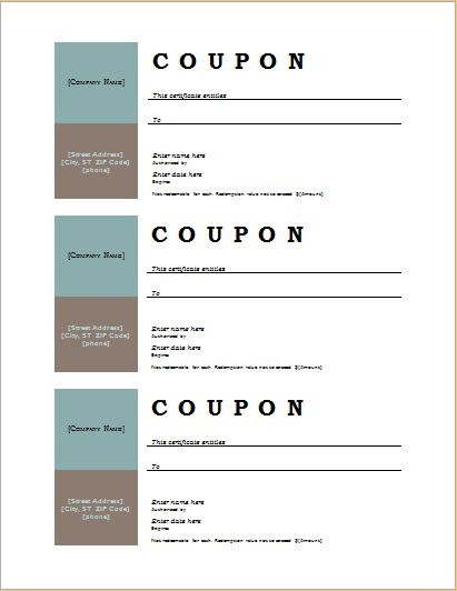 How to Make Coupons with Sample Coupon Templates – Microsoft Word Coupon Template