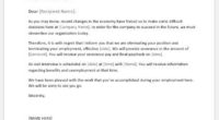 Employee layoff letter