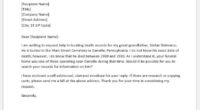 Genealogy record request letter from funeral home