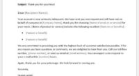 Thank you letter to new customer