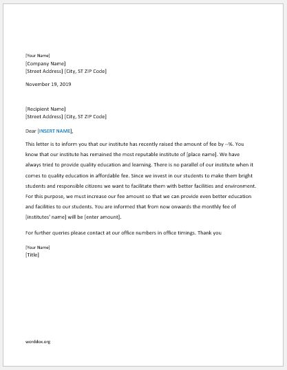27 Announcement Letter Templates for Everyone | Word Document Templates