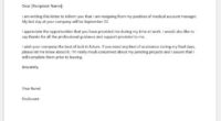 Medical operation manager resignation letter