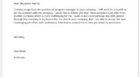 Program manager resignation letter