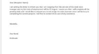 Retail store manager resignation letter