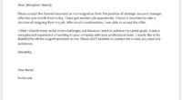Strategic account manager resignation letter