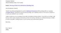 Warning letter to employee for misconduct