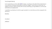 Product manager resignation letter
