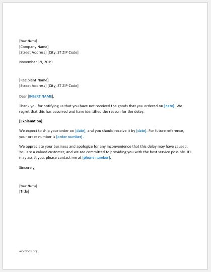 Apologize Letter To Customer from worddox.org
