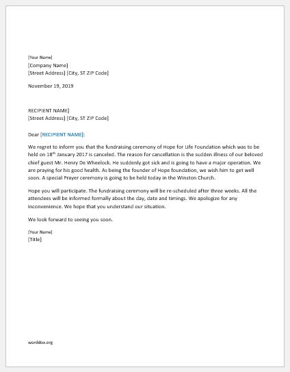 16 Cancellation Letter Templates For All Situations