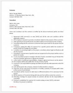 Consultant services agreement template