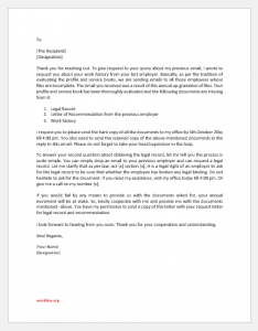 Legal Record Request Letter to An Employee