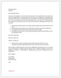 Project Partnership and Cooperation Agreement Letter